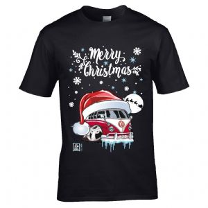 Premium Koolart Christmas Santa Hat Design & Retro Campervan Camper van car gift mens t-shirt top